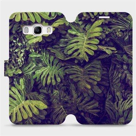 Flipové pouzdro Mobiwear na mobil Samsung Galaxy J5 2016 - V136P Zelená stěna z listů