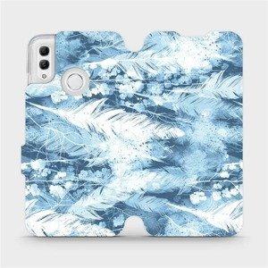 Flipové pouzdro Mobiwear na mobil Honor 10 Lite - M058S Světle modrá horizontální pírka
