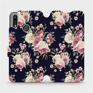 Flipové pouzdro Mobiwear na mobil Huawei P Smart 2019 - V068P Růžičky