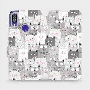Flipové pouzdro Mobiwear na mobil Xiaomi Redmi Note 7 - M099P Kočičky