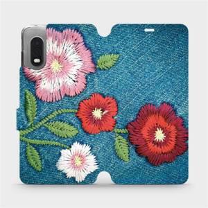 Flipové pouzdro Mobiwear na mobil Samsung Xcover PRO - MD05P Džínové květy