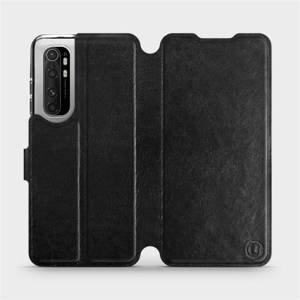 Flipové pouzdro Mobiwear na mobil Xiaomi Mi Note 10 Lite v provedení C_BLS Black&Gray s šedým vnitřkem