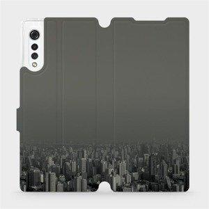 Flipové pouzdro Mobiwear na mobil LG Velvet - V063P Město v šedém hávu