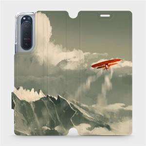 Flipové pouzdro Mobiwear na mobil Sony Xperia 5 II - MA03P Oranžové letadlo v horách