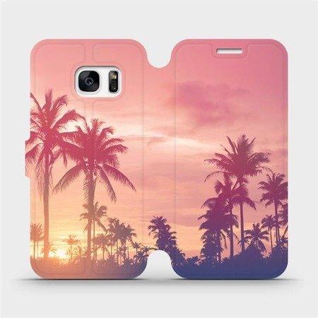 Flipové pouzdro Mobiwear na mobil Samsung Galaxy S7 Edge - M134P Palmy a růžová obloha
