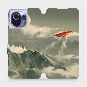 Flipové pouzdro Mobiwear na mobil Xiaomi Mi 11 - MA03P Oranžové letadlo v horách