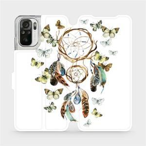 Flipové pouzdro Mobiwear na mobil Xiaomi Redmi Note 10 - M001P Lapač a motýlci