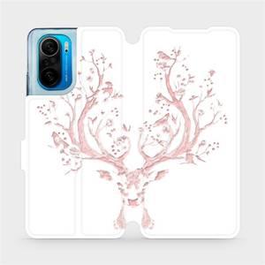 Flipové pouzdro Mobiwear na mobil Xiaomi Mi 11i / Xiaomi Poco F3 - M007S Růžový jelínek