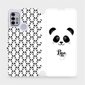 Flipové pouzdro Mobiwear na mobil Motorola Moto G10 - M030P Panda Amálka