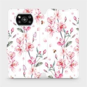 Flipové pouzdro Mobiwear na mobil Xiaomi Poco X3 Pro - M124S Růžové květy