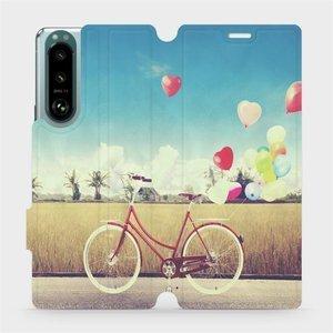 Flip pouzdro Mobiwear na mobil Sony Xperia 5 III - M133P Kolo a balónky