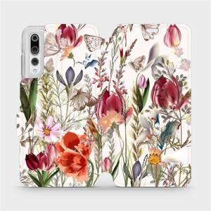Flip pouzdro Mobiwear na mobil Huawei P20 Pro - MP01S Rozkvetlá louka