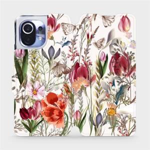 Flip pouzdro Mobiwear na mobil Xiaomi Mi 11 - MP01S Rozkvetlá louka