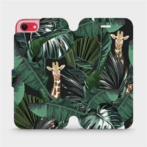 Flip pouzdro Mobiwear na mobil Apple iPhone SE 2020 - VP06P Žirafky