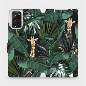 Flip pouzdro Mobiwear na mobil Samsung Galaxy Note 20 - VP06P Žirafky