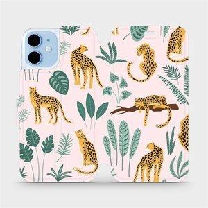 Flip pouzdro Mobiwear na mobil Apple iPhone 12 Mini - MP07S Leopardi