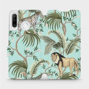 Flip pouzdro Mobiwear na mobil Huawei P30 Lite - MP08S Dvě kočičky