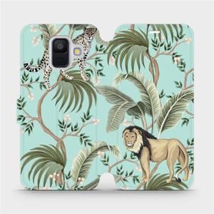 Flip pouzdro Mobiwear na mobil Samsung Galaxy A6 2018 - MP08S Dvě kočičky