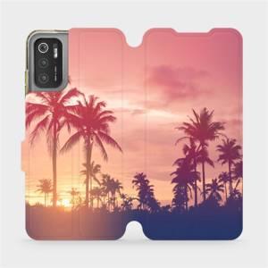 Flip pouzdro Mobiwear na mobil Xiaomi Poco M3 Pro 5G - M134P Palmy a růžová obloha