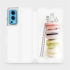 Flip pouzdro Mobiwear na mobil OnePlus Nord 2 5G - M090P Makronky - have a nice day