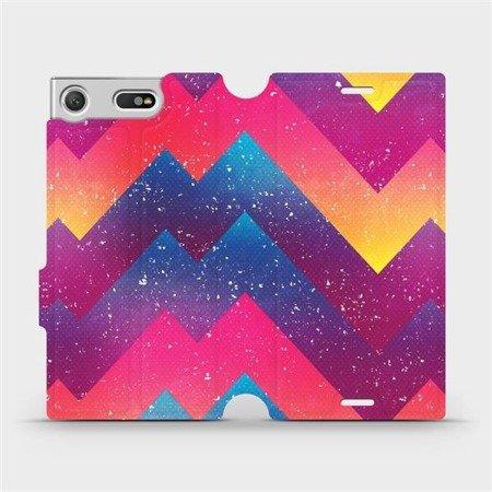 Flipové pouzdro Mobiwear na mobil Sony Xperia XZ1 Compact - V110S Barevné klikyháky