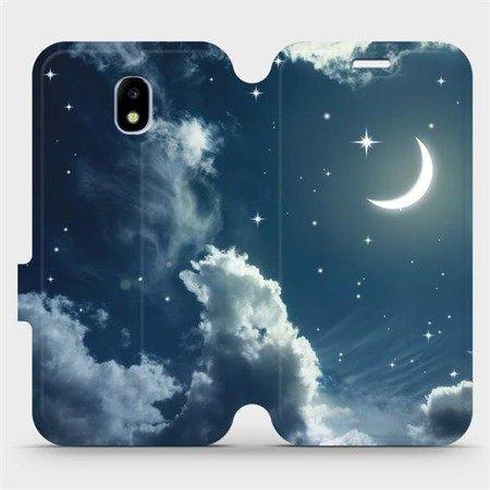 Flipové pouzdro Mobiwear na mobil Samsung Galaxy J5 2017 - V145P Noční obloha s měsícem