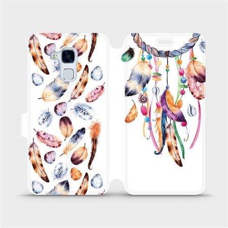Flipové pouzdro Mobiwear na mobil Honor 7 Lite - M003S Lapač a barevná pírka