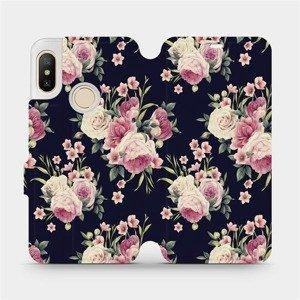 Flipové pouzdro Mobiwear na mobil Xiaomi Mi A2 Lite - V068P Růžičky