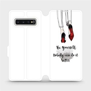 Flipové pouzdro Mobiwear na mobil Samsung Galaxy S10 - M046P Be yourself