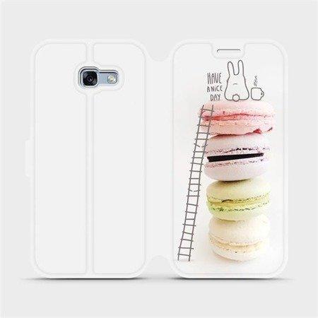 Flipové pouzdro Mobiwear na mobil Samsung Galaxy A3 2017 - M090P Makronky - have a nice day
