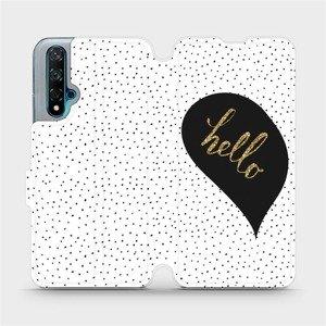 Flipové pouzdro Mobiwear na mobil Huawei Nova 5T - M013P Golden hello