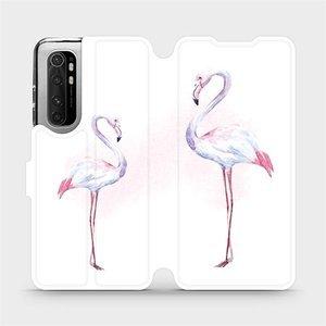 Flipové pouzdro Mobiwear na mobil Xiaomi Mi Note 10 Lite - M005S Plameňáci