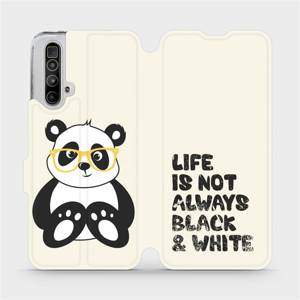 Flipové pouzdro Mobiwear na mobil Realme X3 SuperZoom - M041S Panda - life is not always black and white