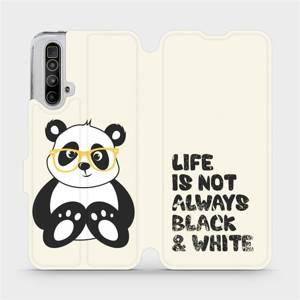 Flipové pouzdro Mobiwear na mobil Realme X3 SuperZoom - M041S Panda - life is not always black and white