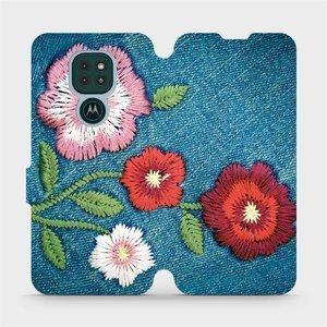 Flipové pouzdro Mobiwear na mobil Motorola Moto G9 Play - MD05P Džínové květy