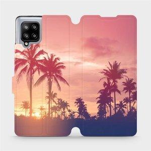 Flipové pouzdro Mobiwear na mobil Samsung Galaxy A42 5G - M134P Palmy a růžová obloha