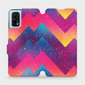 Flipové pouzdro Mobiwear na mobil Realme 7 Pro - V110S Barevné klikyháky