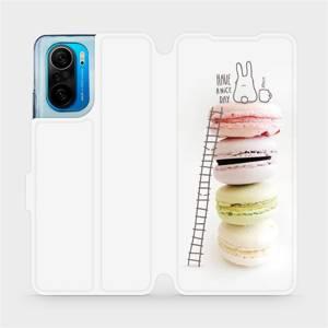 Flipové pouzdro Mobiwear na mobil Xiaomi Mi 11i / Xiaomi Poco F3 - M090P Makronky - have a nice day