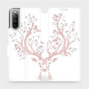 Flip pouzdro Mobiwear na mobil Sony Xperia 10 III - M007S Růžový jelínek