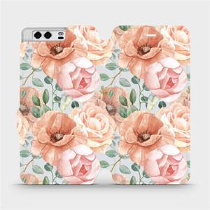 Flip pouzdro Mobiwear na mobil Huawei P10 - MP02S Pastelové květy