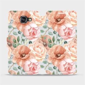 Flip pouzdro Mobiwear na mobil Samsung Galaxy A5 2016 - MP02S Pastelové květy