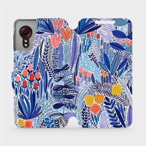 Flip pouzdro Mobiwear na mobil Samsung Galaxy Xcover 5 - MP03P Modrá květena