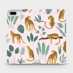 Flip pouzdro Mobiwear na mobil Apple iPhone 7 Plus - MP07S Leopardi