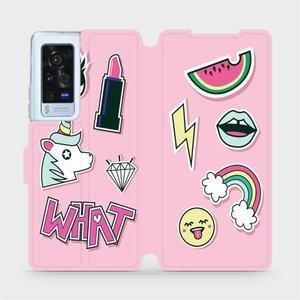 Flip pouzdro Mobiwear na mobil Vivo X60 Pro 5G - M129S Růžové WHAT