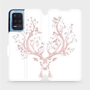 Flip pouzdro Mobiwear na mobil Realme 8 5G - M007S Růžový jelínek