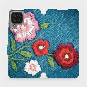 Flip pouzdro Mobiwear na mobil Samsung Galaxy M22 - MD05P Džínové květy