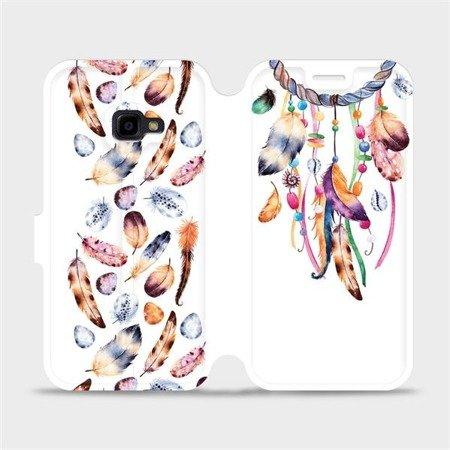 Flipové pouzdro Mobiwear na mobil Samsung Xcover 4 - M003S Lapač a barevná pírka