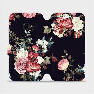 Flipové pouzdro Mobiwear na mobil Samsung Xcover 4 - VD11P Růže na černé
