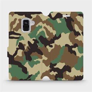 Flipové pouzdro Mobiwear na mobil Samsung Galaxy A8 2018 - V111P Maskáče