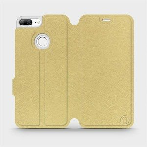 Flipové pouzdro Mobiwear na mobil Honor 9 Lite v provedení C_GOS Gold&Gray s šedým vnitřkem